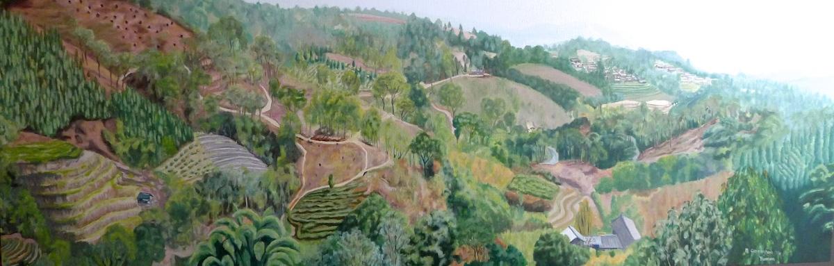 Hillside Yunnan panorama Cunningham150x50cm