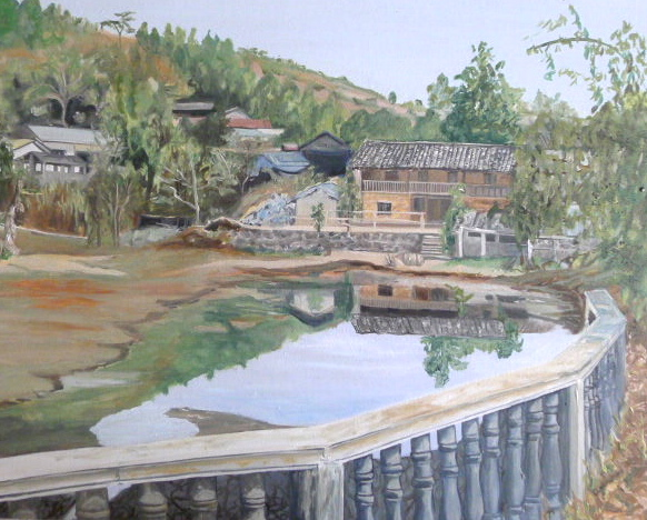 Yunnan Village mayors house Cunningham 58 x 50cm
