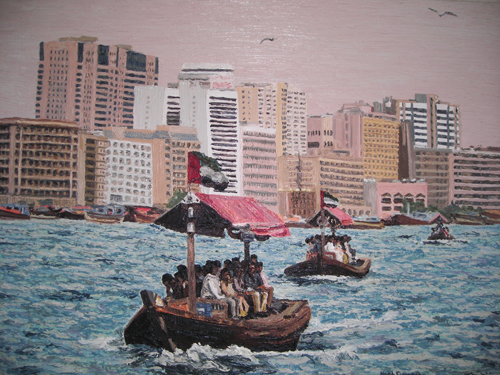 Approaching three  2nd Dubai Cunningham oil on canvas 100 x 80 cm