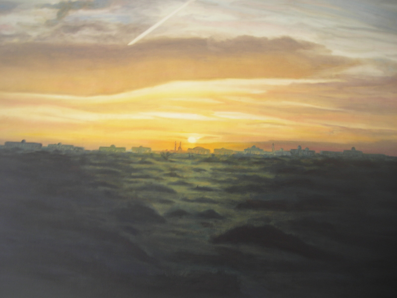 Sharjah Sunrise. Cunningham linseed oil on canvas 120 x 100cm