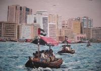 Approaching three  2nd Dubai Cunningham oil on canvas 100 x 80 cm