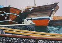 Deira Bird Watchers Dubai  Cunningham acrylic on canvas  80 x60 cm