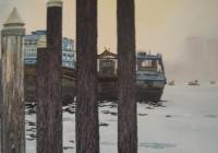 Deira Pillars Dubai Cunningham  oil on canvas 100 x 150cm