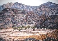 Fujairah wadi large UAE Cunningham oil on canvas 100 x 150cm