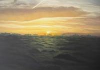 Sharjah Sunrise. Cunningham linseed oil on canvas 120 x 100cm