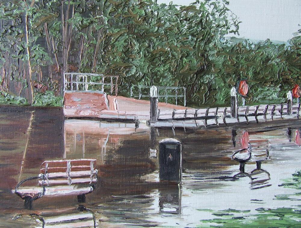 Carlow park flood 26 x 26 cm.
