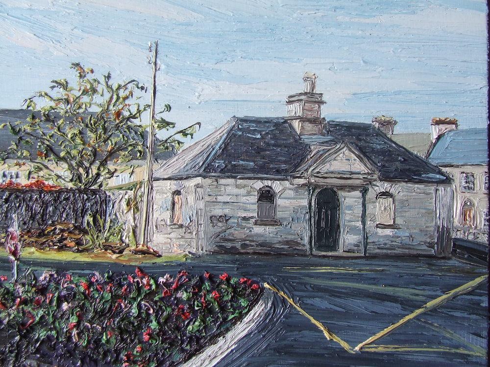 Gate house St Dympnas 26 x 26 cm