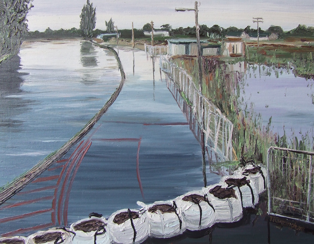 Sandbags on Barrow 沙袋 23 x 28 cm