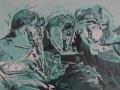3 boys  Cunningham Acrylic on canvas  60x50 cm