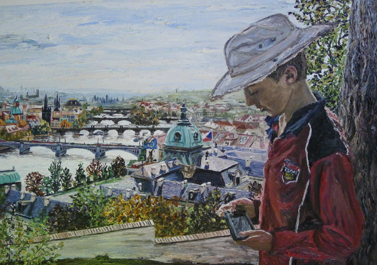 Letna Park Prague Cunningham oil on canvas 70 x 50cm